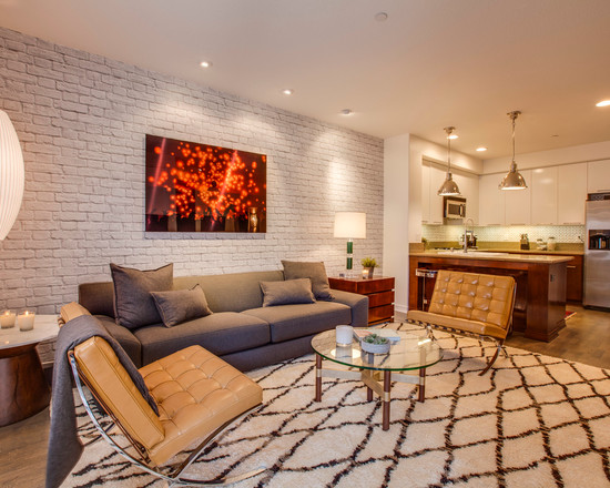 Add exposed brick feature scott emma for Brick wall living room