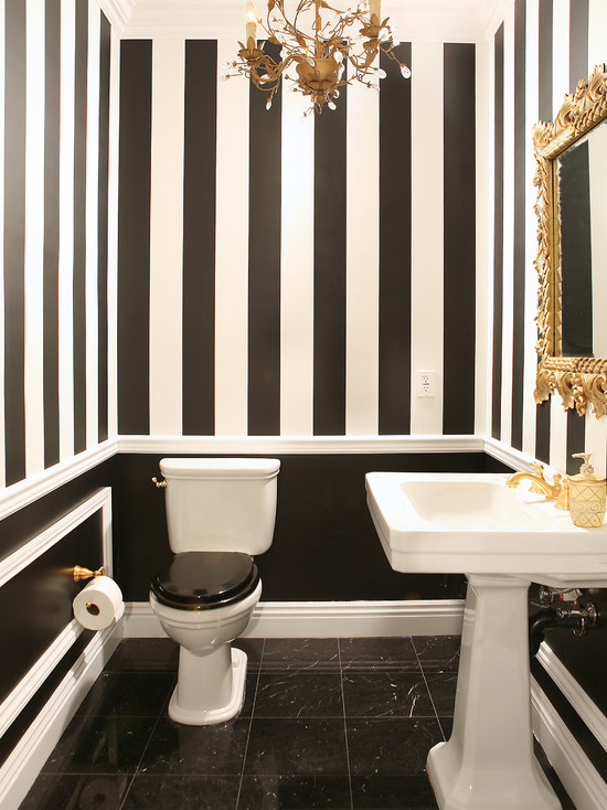 Traditional powder room 1