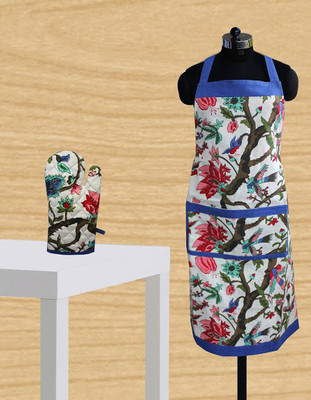 Apron with Free Baking Glove